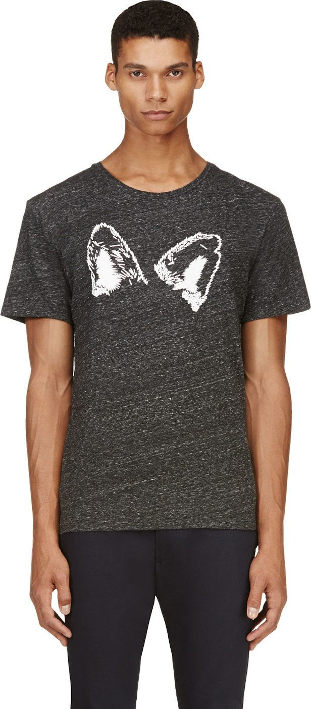 Maison Kitsuné Grey Ears T-Shirt