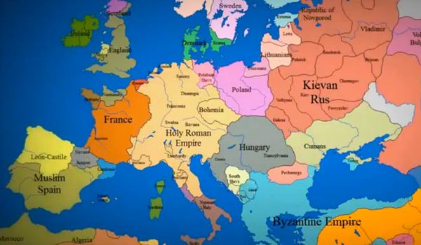 Watch 1000 Years of European Borders Change In 3 Minutes. Great visual for history.