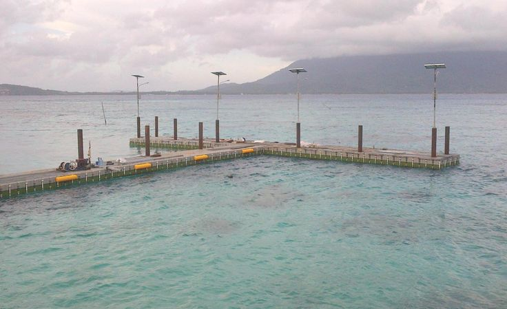Dermaga Apung Pulau Senoa - Natuna