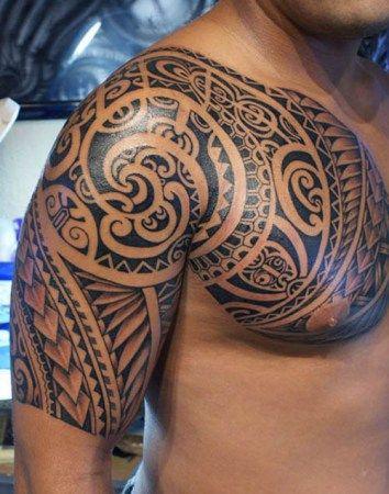 Samoan Shoulder Tattoo
