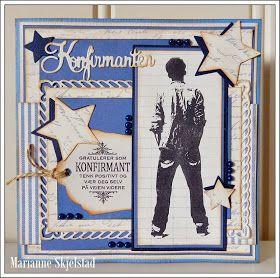 Mariannes papirverden.: Konfirmasjonskort - Pion Design