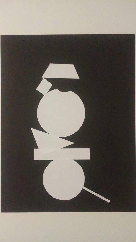 152 - Vincent de Lannoy- SAM 1 – L'échelle   Représentation de la notion Équilibre-Déséquilibre  .