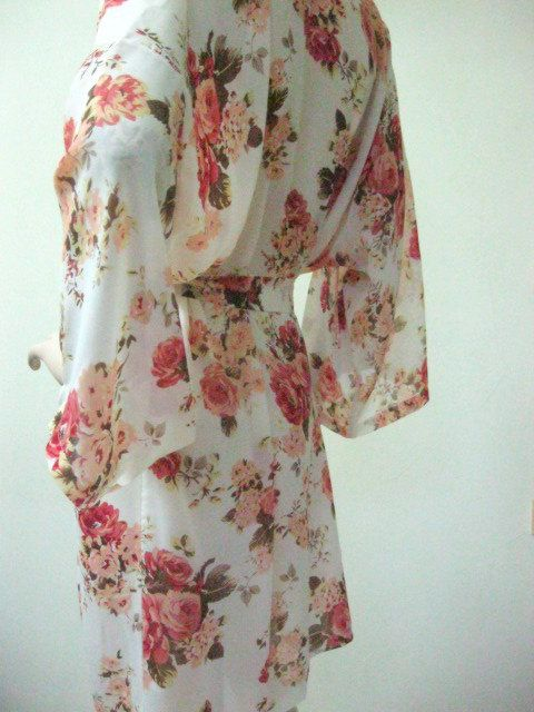 Kimono Robe in Habutai Silk  HANDMADE TO ORDER Gift for by MaySilk, $45.00