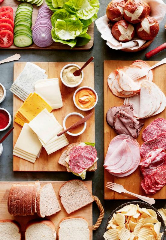 The easiest way to feed a crowd.... A SANDWICH BAR with all the fixin's from www.whatsgabycooking.com (@whatsgabycookin)