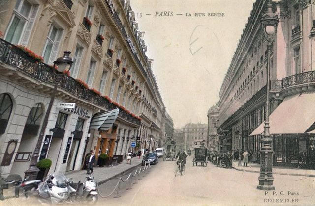Rue Scribe, dans le 9ème arrondissement (Crédit Image : Golem 13)