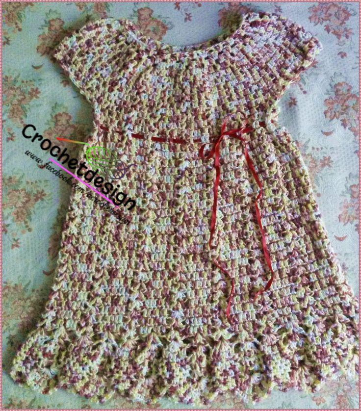 Crochet little girl summer dress