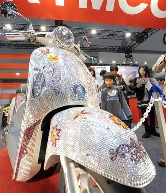 Swarovski Crystals Kymco Scooter