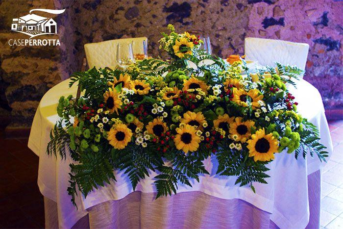 Girasoli per il tavolo degli sposi