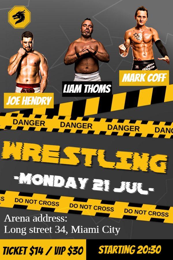printable wrestling line up poster template wrestling poster