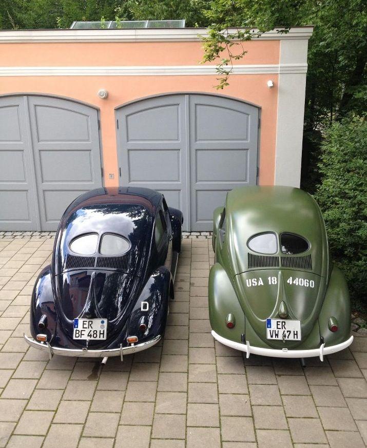 Blue and Green Split Window Beetle VW