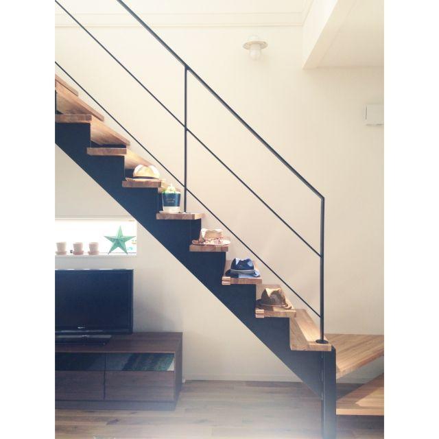 U-tanさんの、リビング,階段,リビング階段,コンテストに参加してみます!,スチール階段,のお部屋写真