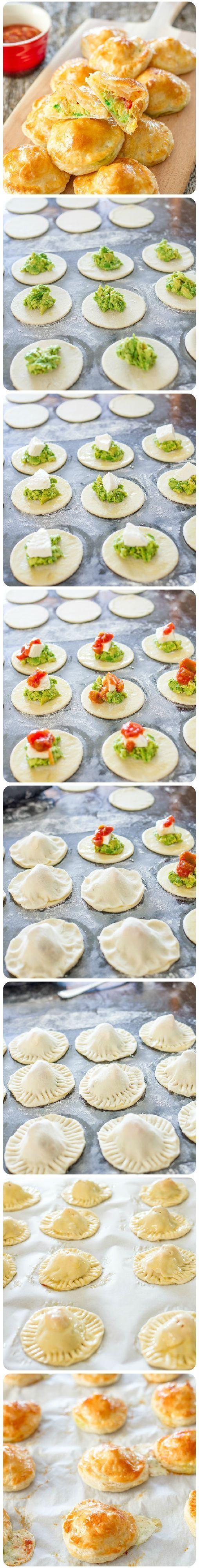 vulling van avocado, mozzarella en gerookte zalm