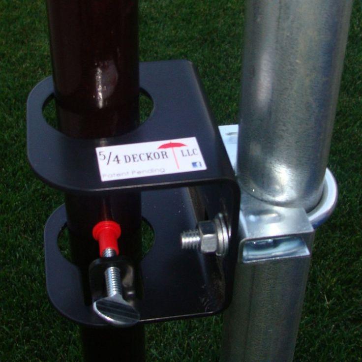 Deck/Dock Flag Pole Bracket with Optional Hardware - DECK007
