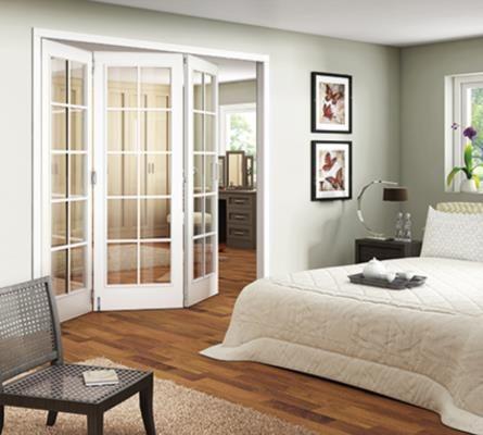 JELD-WEN Room Fold 3 Door Moulded 10 Light Clear Glazed Interior Doors