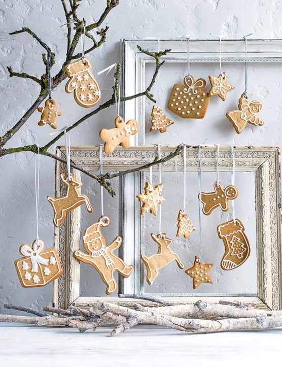 Spiced Christmas Biscuits Our festive biscuits make perfect edible Christmas decorations to hang from your tree or mantle. You can leave them out for Santa or wrap them up as a gift, the possibilities are endless!