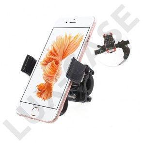 Beslag til cykelstyret med gummirem til smartphones - Sort