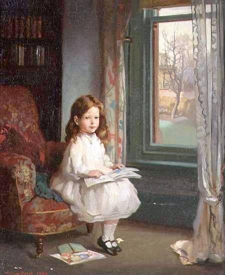 Portrait Of Clara Hughes.  William Orpen (1878-1931)