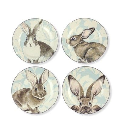 Damask Easter Bunny Serveware Collection #williamssonoma