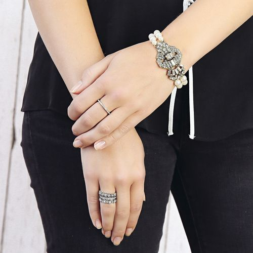 Crystal Stackable Rings
