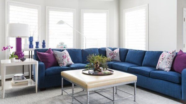 Color Trend 2020 Pantone S Color Of The Year Classic Blue Designed Classic Family Room Blue Sectional Family Room Makeover