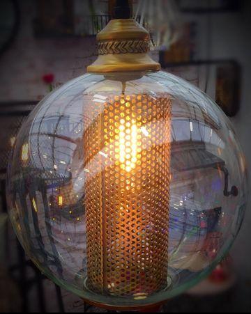 Steam Punk Golden Globe Spherical Pendant Light.