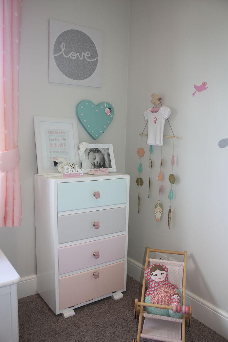 girls nursery on a budget
