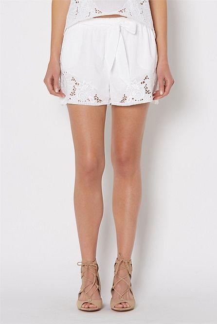 Women's & Ladies Shorts | Witchery Online - Lace Short