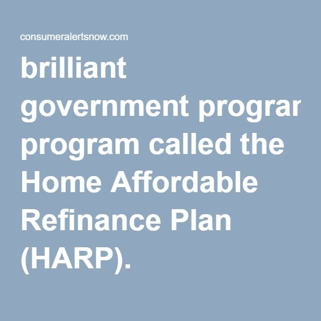 Brilliant Government Program Called The Home Affordable