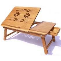 Mesa Cama De Bambú Con Cooler Para Laptop Hasta 17
