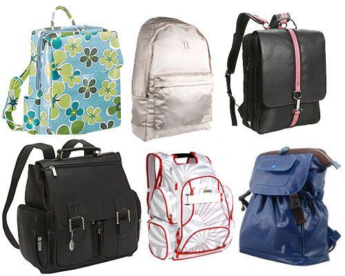 Laptop bookbags via College Fashion