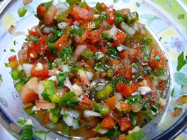 Salsa criolla para acompa ar la carne asada a la parrilla - Guarniciones para carne en salsa ...