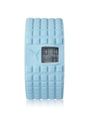 55% OFF PUMA Unisex PU910832003 Cell Light Blue/Grey Silicone Watch