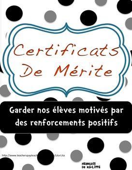 Certificats de mérite// GRATUIT//