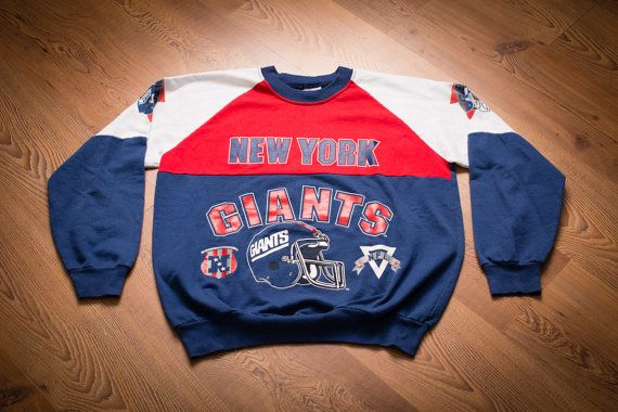 Vintage 80s New York Giants Sweatshirt, NYC NFL Apparel, Classic Shirt, Red, White and Blue