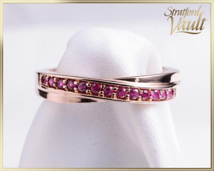 GIA ~ 1200.00 ~ Vintage ~ Ladies Ruby Ring ~ 14k Rose Gold ~ 13 x 1.75mm  Round…