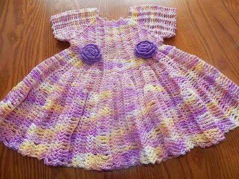 Vestido Matizado para Niña Crochet parte 1 de 2 - YouTube