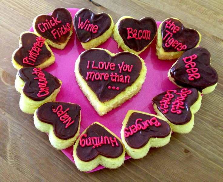 """I love you more than..."" Cake cut outs! Perfect for the person you love- grandma, mom, husband, wife, boyfriend, girlfriend!"