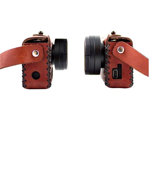 The traveler for goPro. Beautiful leather case for your favourite camera!