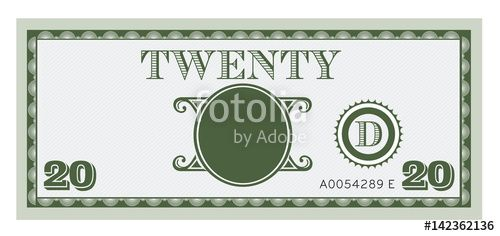 """Twenty money bill with space to add your text"" Stock image and royalty-free vector files on Fotolia.com - Pic 142362136"