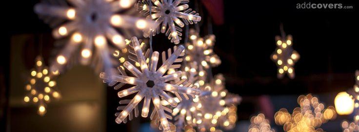 Snowflake Christmas Lights {Holidays Facebook Timeline Cover Picture, Holidays Facebook Timeline image free, Holidays Facebook Timeline Banner}