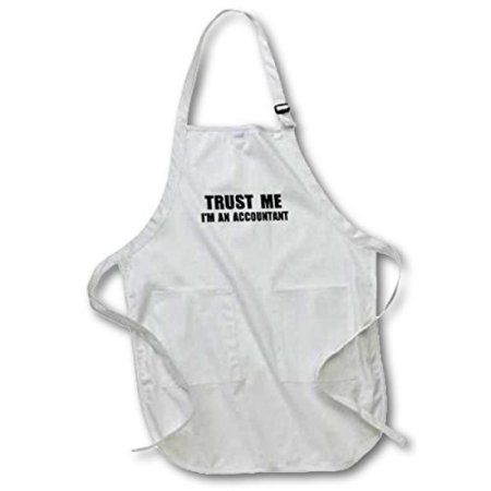 3dRose Trust me Im an Accountant - fun accounting humor - funny job work gift, Full Length Apron, 22 by 30-inch, Black, With Pockets