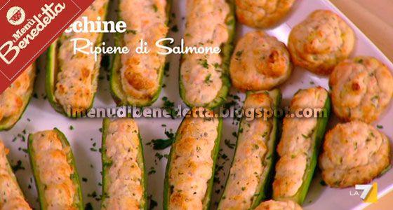 Zucchine Ripiene di Salmone e Ricotta di Benedetta Parodi