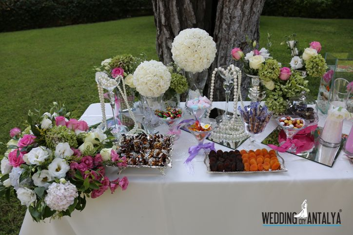 candy bar for wedding ceremony in antalya