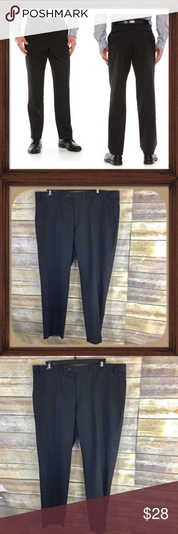 Chaps Men's Black Pin Striped Dress Pants EUC Black pin striped dress pants. In excellent used condition. Size 42Wx30L . Chaps Pants Dress