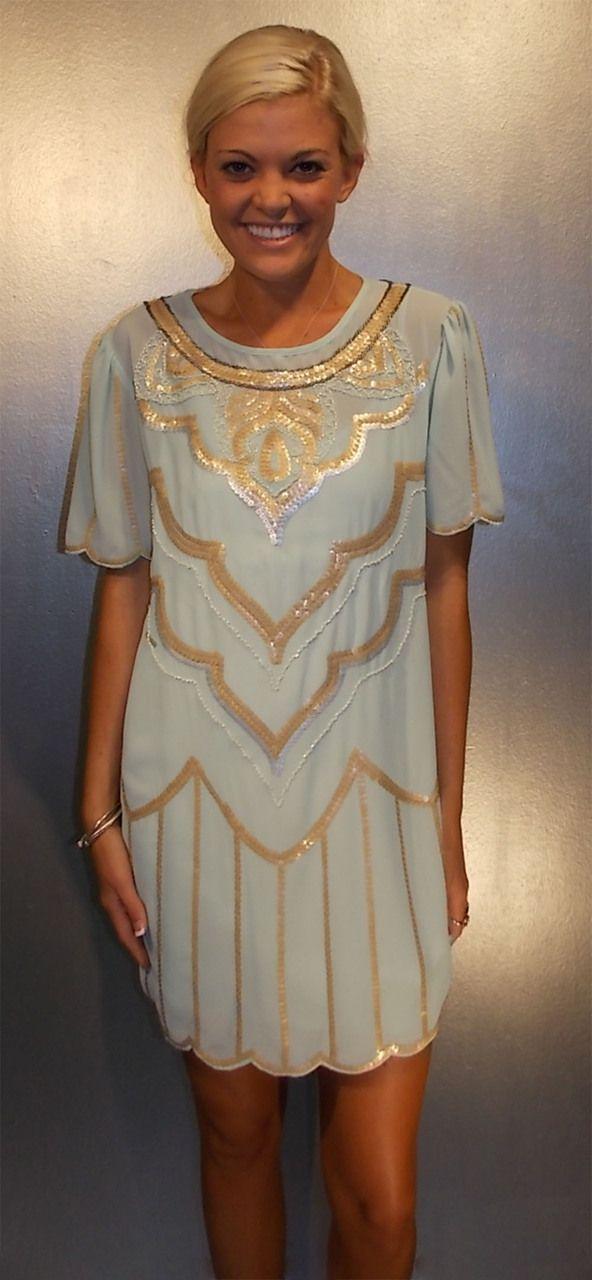 TC Elli's - 20's Mint Dress, $60.00 (http://www.shoptcellis.com/new-arrivals/20s-mint-dress/)