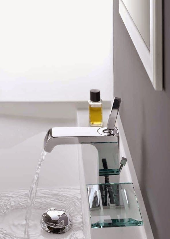 ALPI - Série INFINITI - Mitigeur de lavabo avec support pour le savon