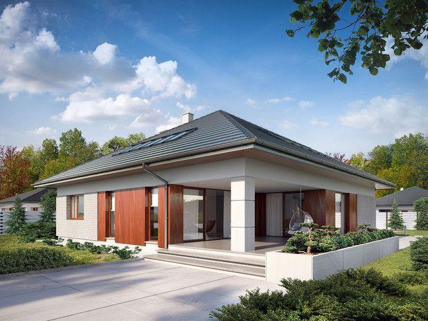 Projekt TPC-363: Dom jednorodzinny, parterowy, z poddaszem użytkowym i dwustanowiskowym garażem. Wygodny i przestronny.