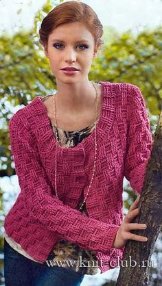 Women's knitted sweater crochet schemes