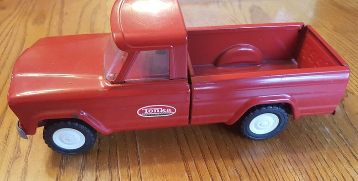 Vintage Pressed Steel 1960s Red Jeep Tonka Truck #Tonka #Jeep