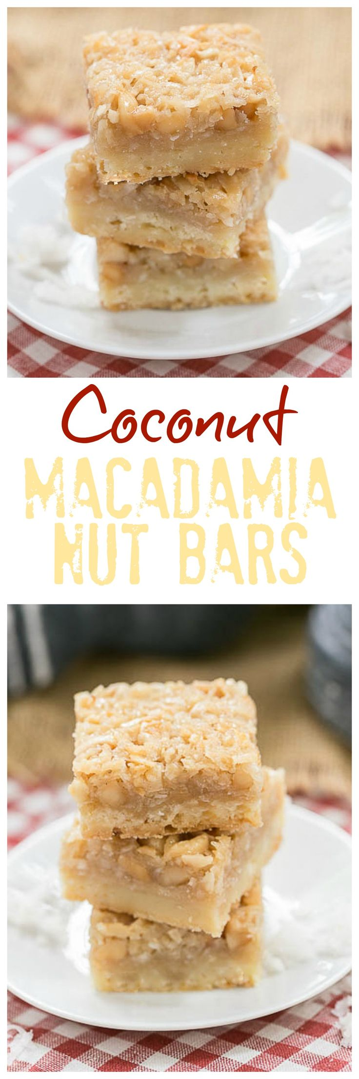 Coconut Macadamia Nut Bars | Coconut lovers' dream bars! @lizzydo